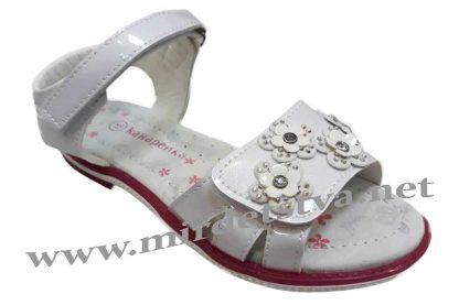 Белые босоножки на девочку Канарейка Е382-1