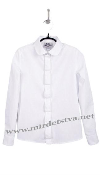 Блуза белая подростковая хлопковая BoGi 103.046.0282.01