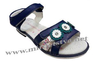 Босоножки для девочек Канарейка Е358-3 синие