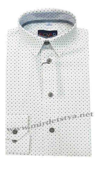 Белая рубашка с принтом INGVAR 21283/1