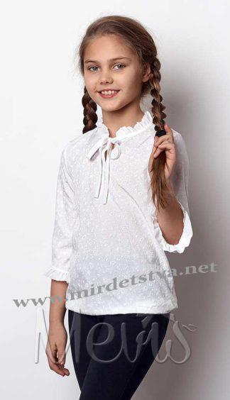 Блузка молочного цвета Mevis 2386-01