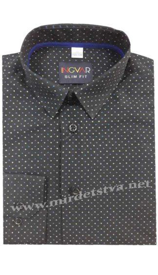 Черная рубашка подростковая INGVAR 21283/12