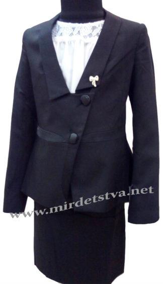 Черный школьный костюм на девочку Bozer M-5919_1-Ч H-1Черный школьный костюм на девочку Bozer M-5919_1-Ч H-1
