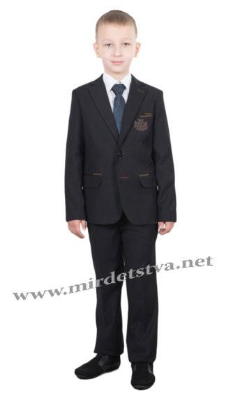 Черный школьный костюм на мальчика Bozer 1071-K H-6
