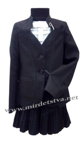 Костюм школьный для девочки Bozer M-5919/1-Ч H-2