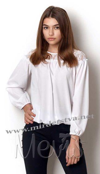 Кружевная белая блузка Mevis 2375-02