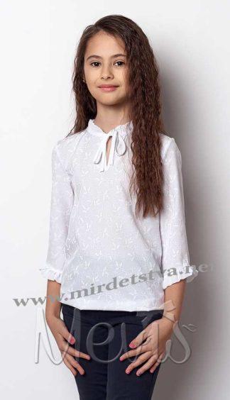 Нарядная белая блузка Mevis 2386-02