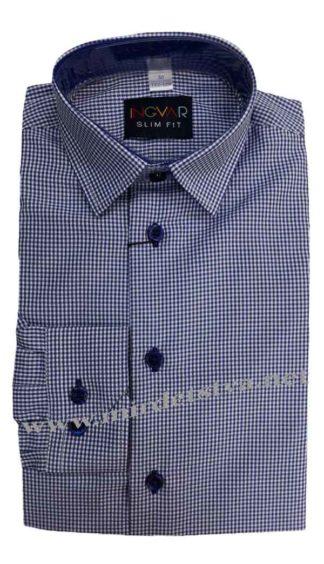 Рубашка для мальчика в школу INGVAR 6310/34 синего цвета
