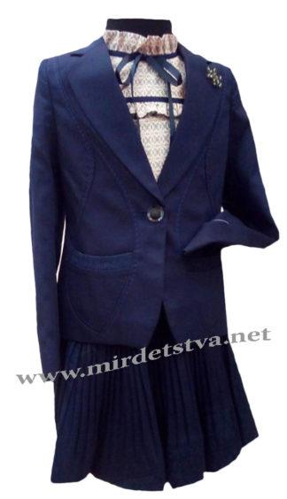 Синий школьный костюм 2-ка для девочки Bozer M-5625-C H-7