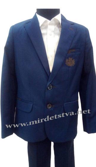 Синий школьный костюм на мальчика Bozer 24/3-K H-4