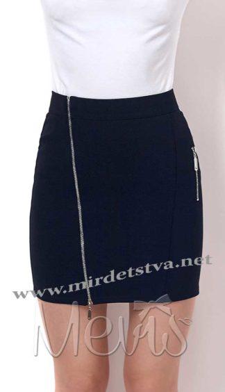 Зауженная юбка на подростков Mevis 2366-0 черного цвета
