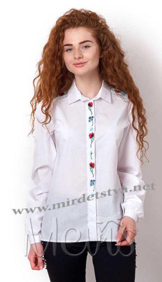 Блуза с вышивкой для девочки Mevis 2360-01