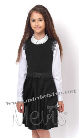 Черный сарафан для школы Mevis 2348-02