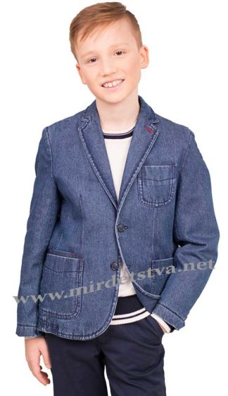 Джинсовый пиджак в школу Новая форма D5.2 Dale