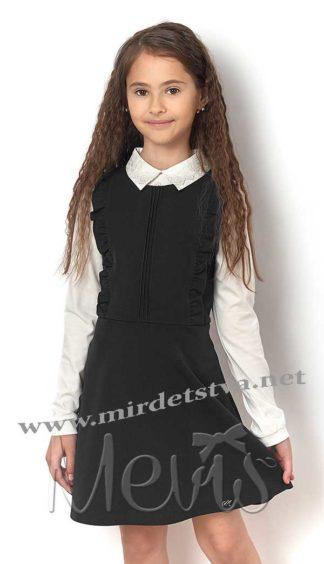 Школьный сарафан для девочки Mevis 2344-02 черного цвета