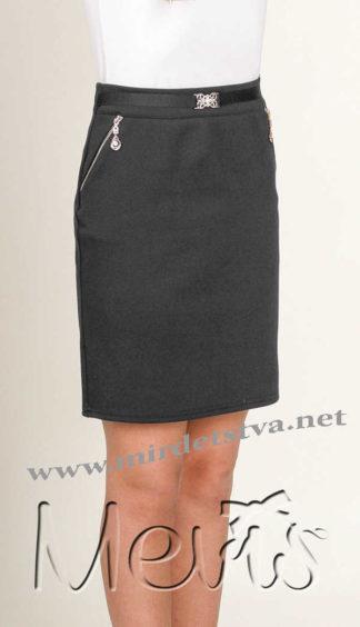 Модная прямая юбка Mevis 1930-02