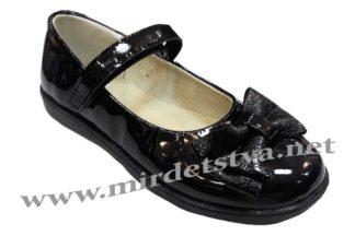 Школьные кожаные туфли Tops Д525 Бант лаковая модель