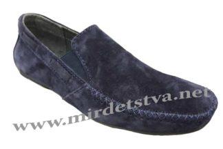 Замшевые синие мокасины Golovin 336-1-22