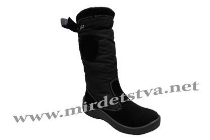 Черные зимние детские и подростковые сапоги для девочки Floare 2424150530