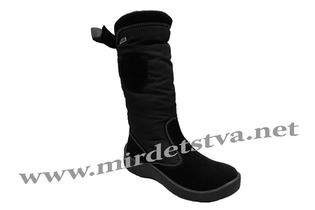 Черные зимние детские и подростковые сапоги для девочки Floare 2424150530 c72db1db747