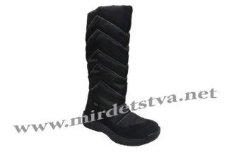 Черные зимние мембранные сапожки на девочку Tigina 95951010