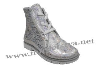 Демисезонные ботинки на девочку Серебряный сибас Tops Д-25.37