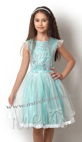 Детское нарядное бирюзовое платье Mevis 2418-03