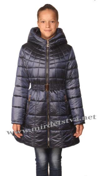 Красивое приталенное синее пальто на девочку Nestta Max Mara
