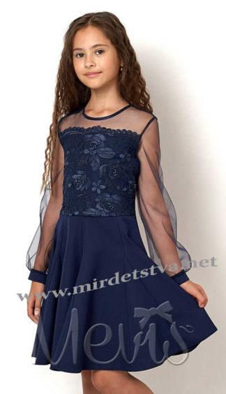 Красивое синее праздничное платье на девочку Mevis 2559-02
