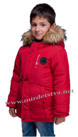Красная зимняя куртка с подстежкой на мальчика Kidzo 33