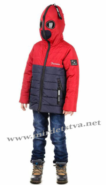 Модная демисезонная куртка с очками на мальчика Traveler Antmen