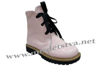 Модные розовые ботинки для девочек Tops Д-25.Н