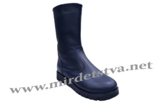 Сапоги для девочки темно-синего цвета Tops 1515ск