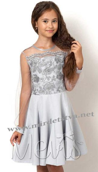 Серое детское платье для особого случая Mevis 2559-01