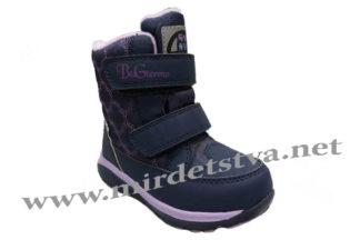 Синие теплые ботинки девочке B&G HL197-908