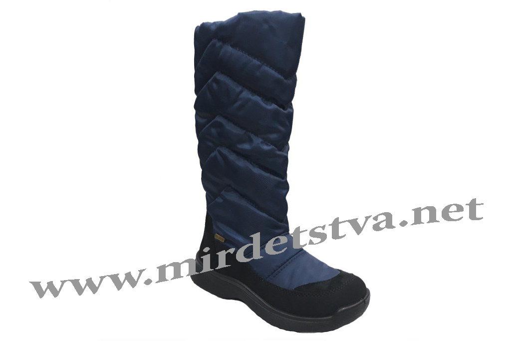 6e33ddbeb Купить Высокие синие зимние сапоги на девочку Tigina 95951080 в ...