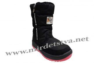 Фото черные ботинки для девочки B&G Termo R191-1220B