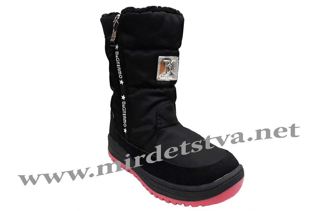 b0d001a53 Купить Черные ботинки для девочки B&G Termo R191-1220B в Харькове по ...