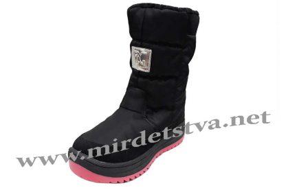 Черные ботинки для девочки B&G Termo R191-1220B
