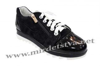 Фото черные кроссовки на девочку Tops Д-730.1Е