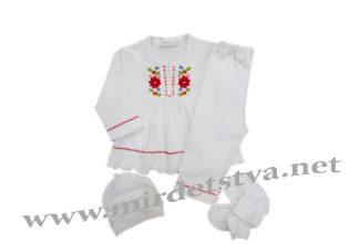 Детский комплект с вышиванкой для девочки See You КД1-11-1