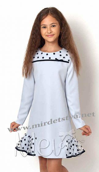 Детское нарядное голубое платье Mevis 2568-02