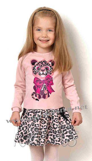 Детское платье пудрового цвета Mevis 2586-05