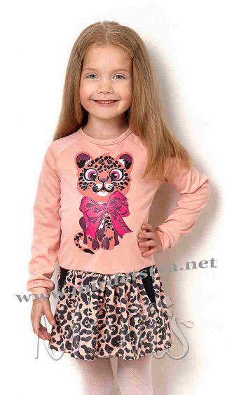 Детское трикотажное платье с длинным рукавом Mevis 2586-03