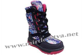 Фиолетовые зимние термосапоги для девочки B&G Termo R191-1205N