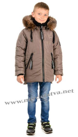 Коричневая зимняя куртка на мальчика Traveler Туниит