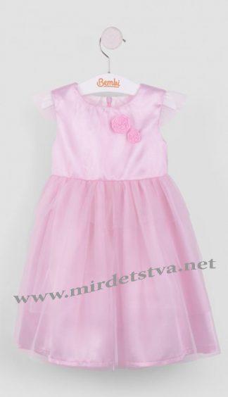 Розовое праздничное платье для девочки Бемби ПЛ151