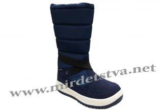 Фото синие зимние сапоги на мембране для девочек B&G Termo R191-1216N