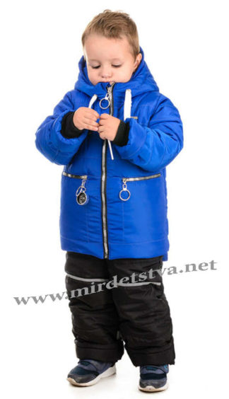 Синий зимний комплект для мальчика Traveler Компас