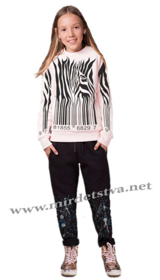 Теплый модный джемпер для девочки Овен Триада 18Д1-148-16